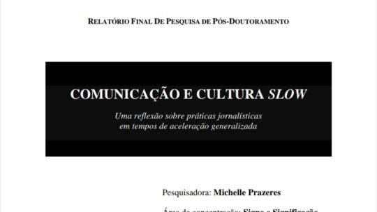 Relatório final de pesquisa de pós-doutoramento